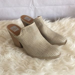 Dolce Vita Heels 11 Tan Closed Toe Netted